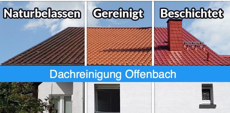 Dachreinigung und Dachbeschichtung Offenbach in 3 Schritten
