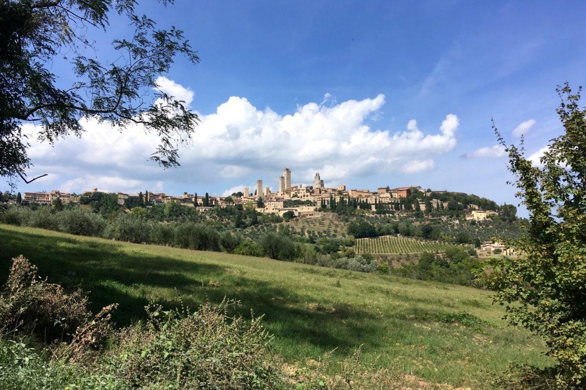 Uitzicht op stadje San Gimignano