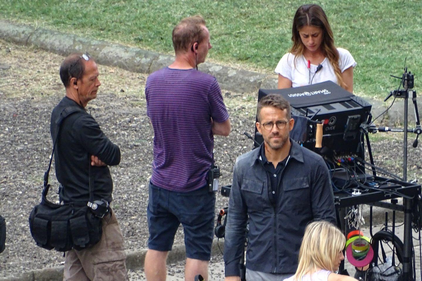 Ryan Renolds tijdens de opnames van de film '6 Underground' in Firenze