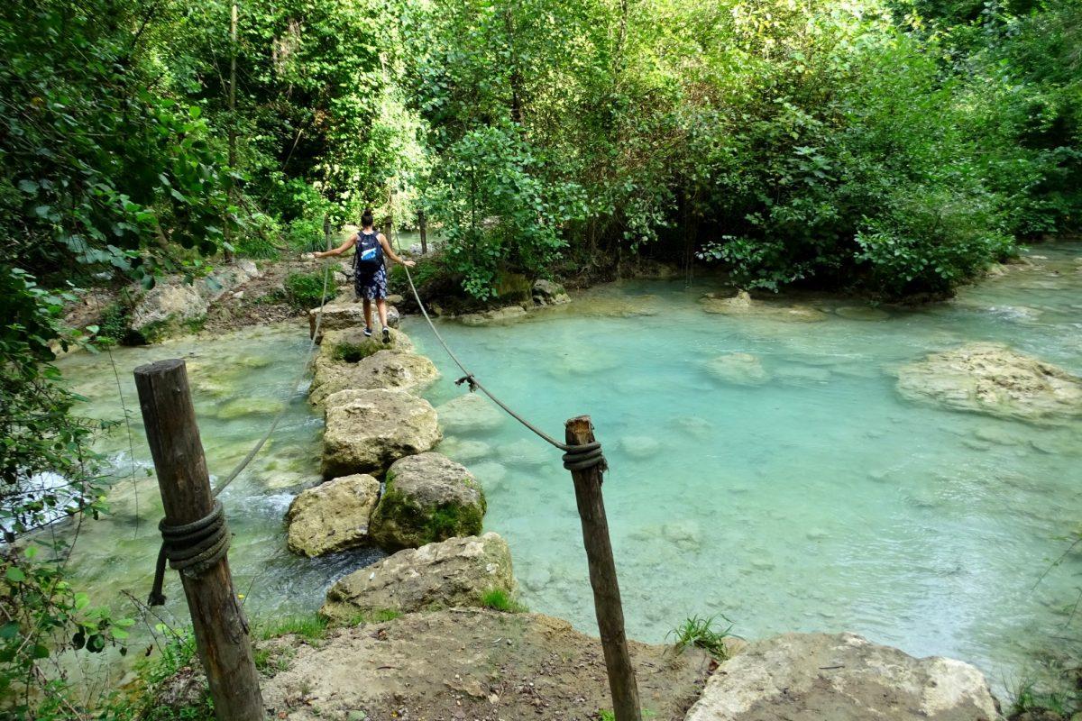 Oversteekplaats Sentierelsa hiking trail