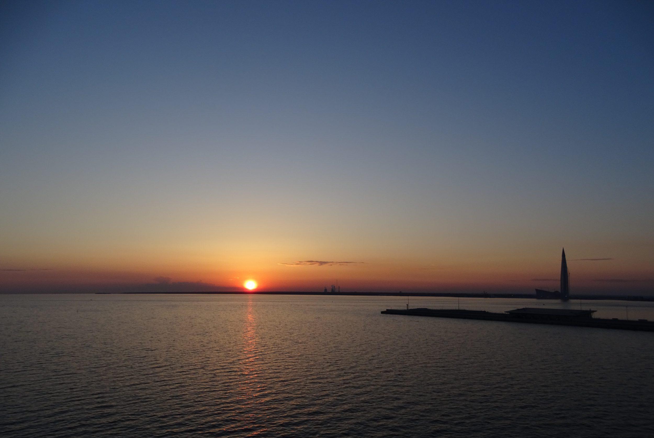 Sint-Petersburg zonsondergang