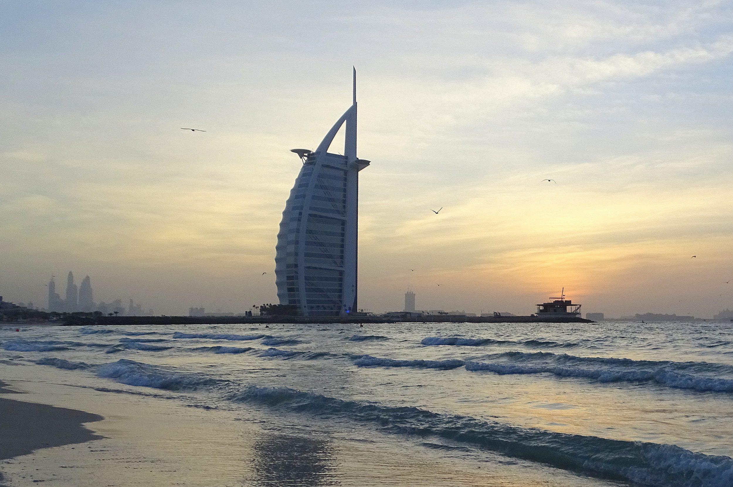 Dubai sunset beach