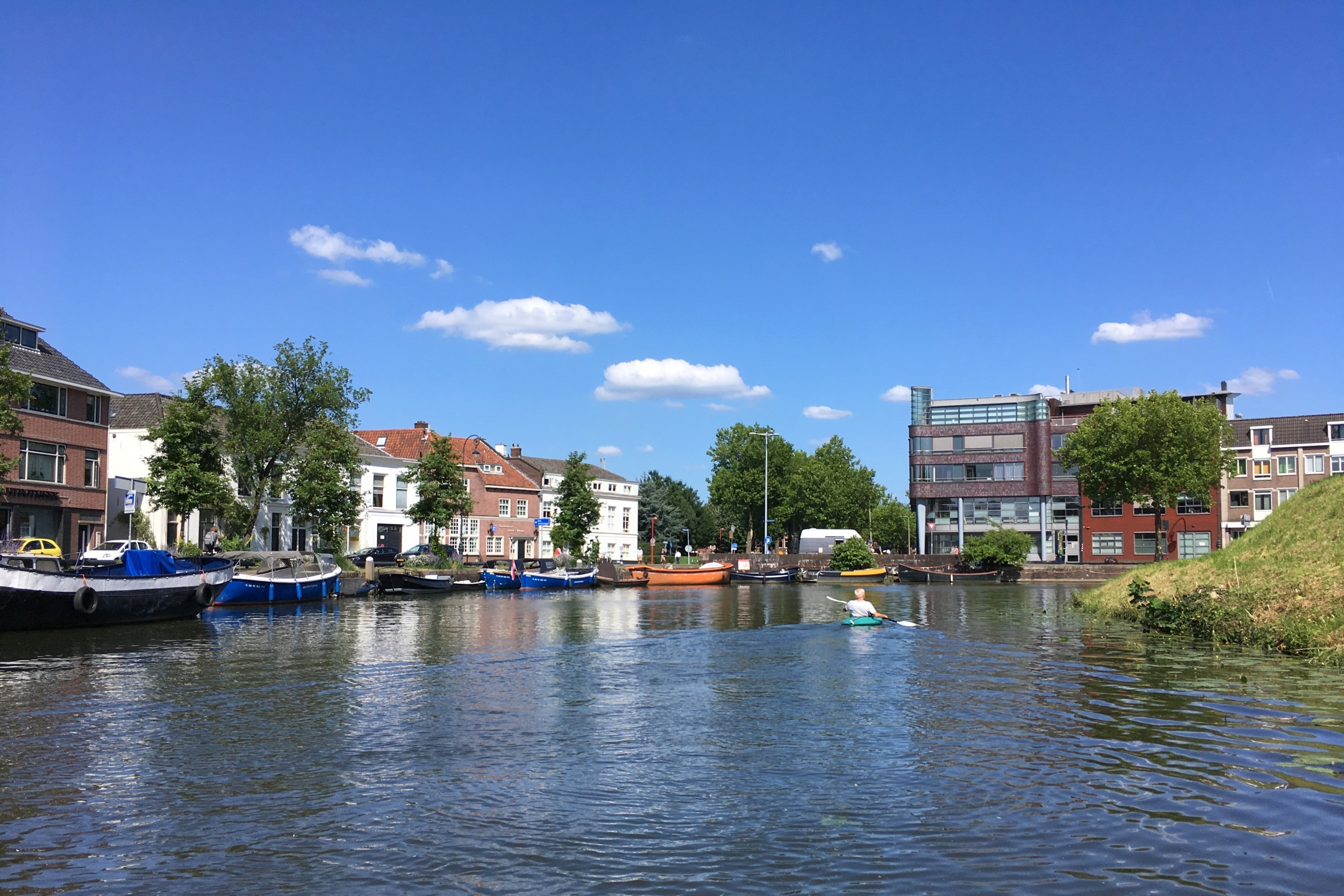 Op de gracht in Utrecht