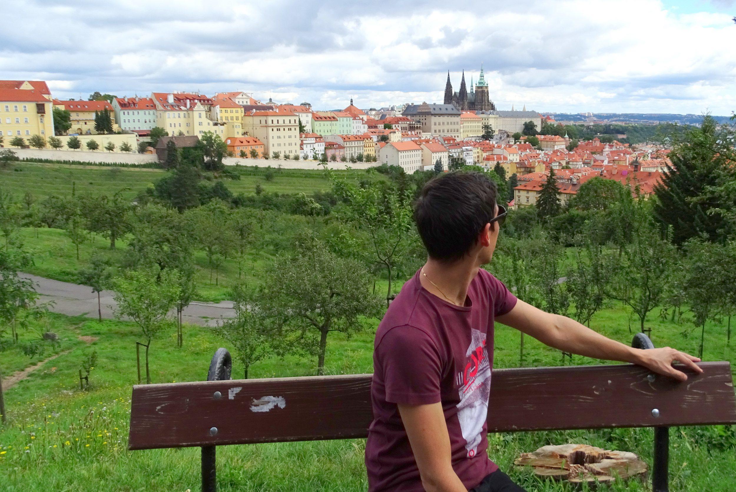 Wandeling nabij de Praagse burcht