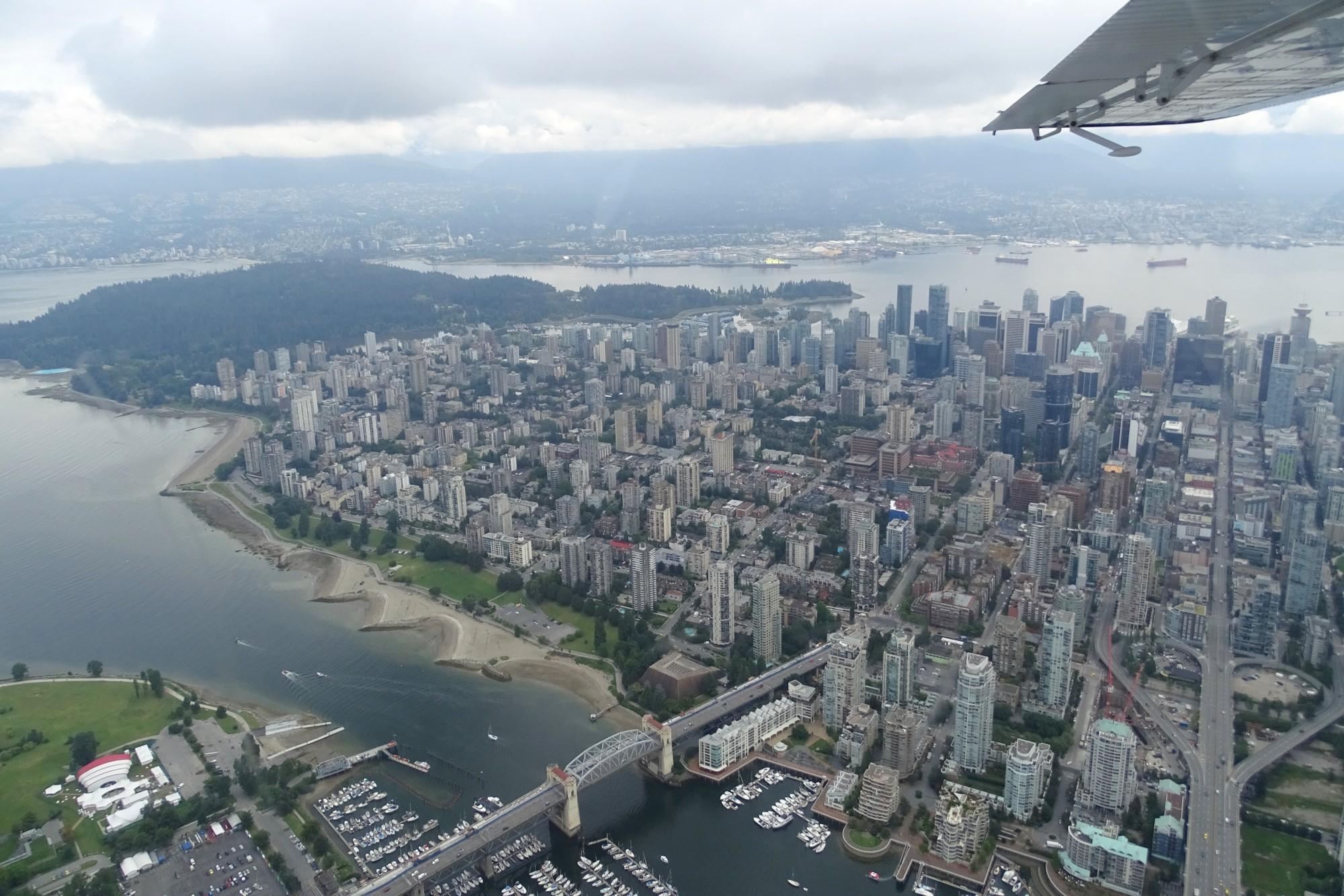 Uitzicht op downtown Vancouver