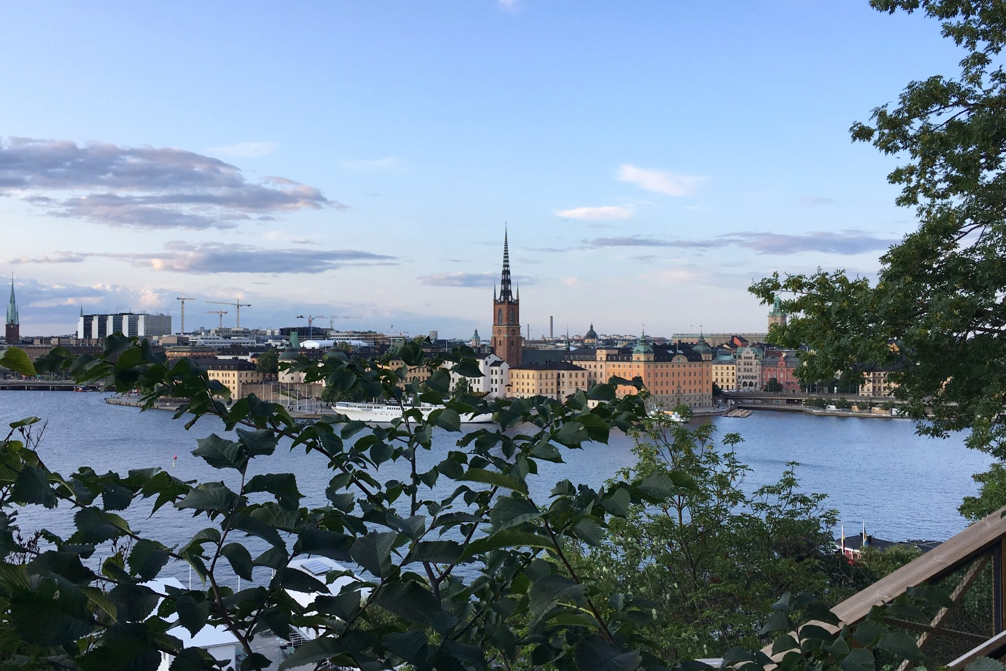 Uitzicht op Stockholm van aan Monteliusvägen