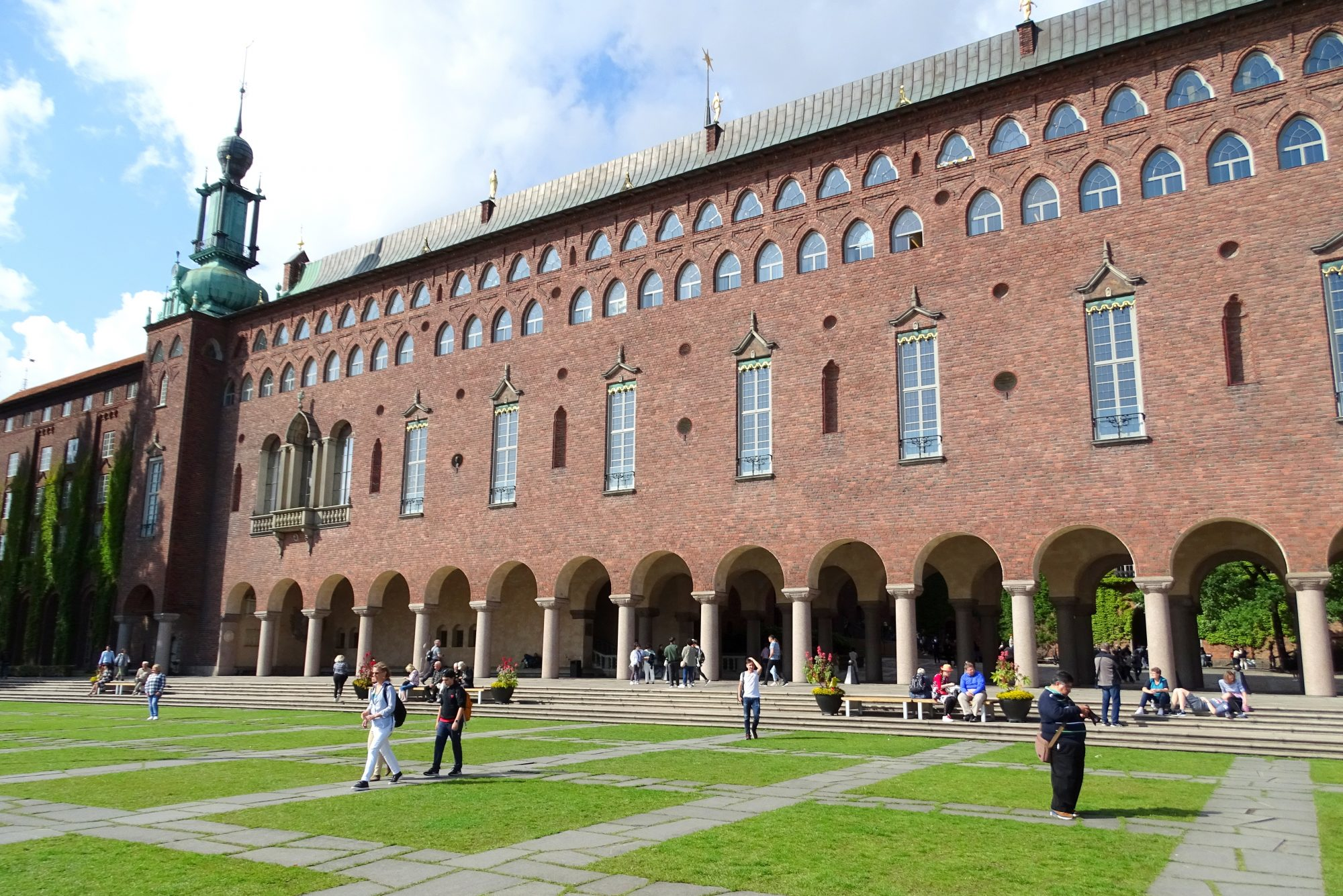 Stadshusparken aan het stadhuis van Stockholm