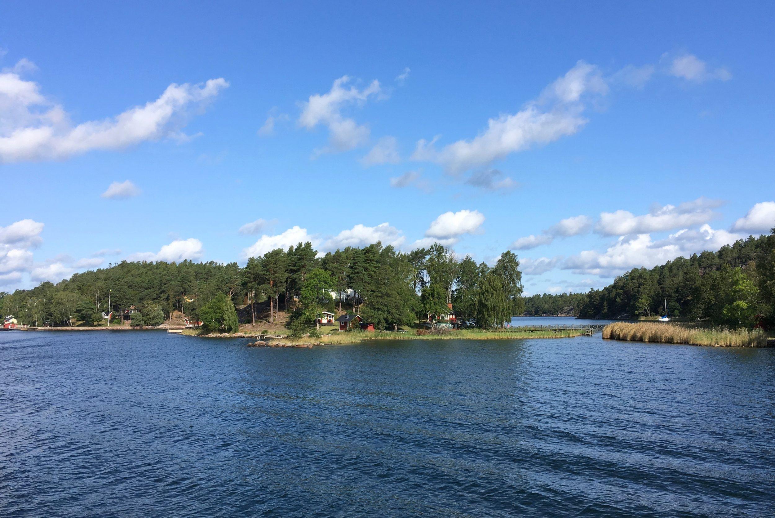 Eilanden in de archipel van Stockholm