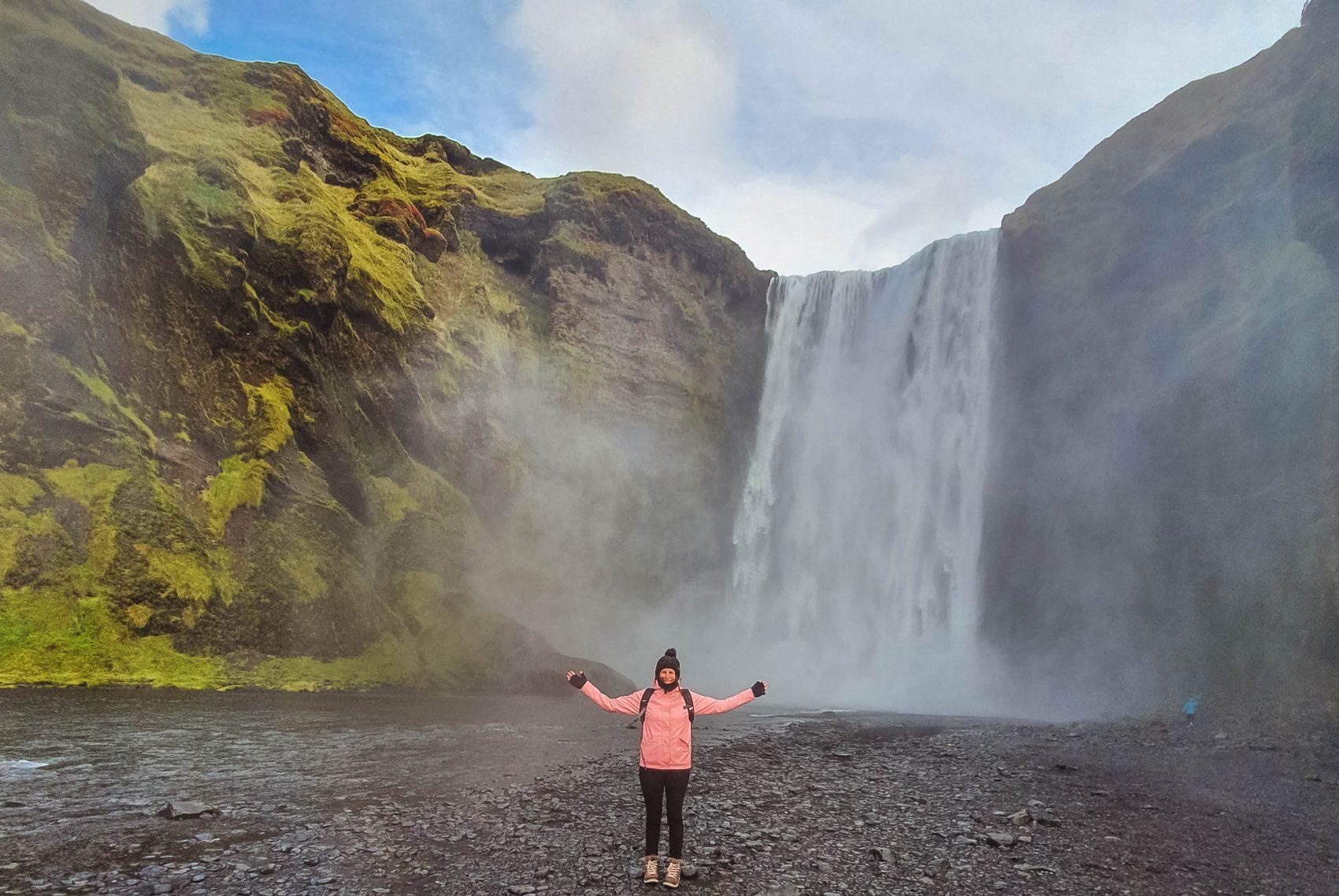 Skogafoss waterval Zuid-IJsland