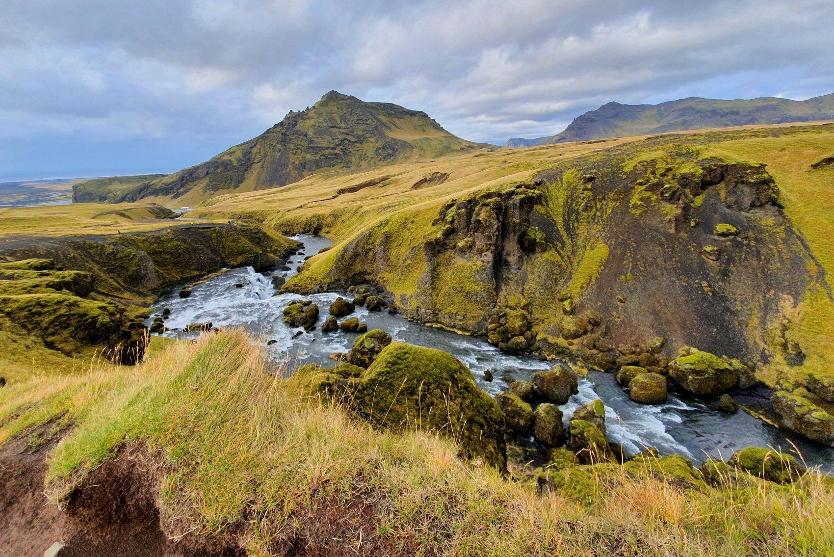 Skogafoss wandelpad Zuid-ijsland