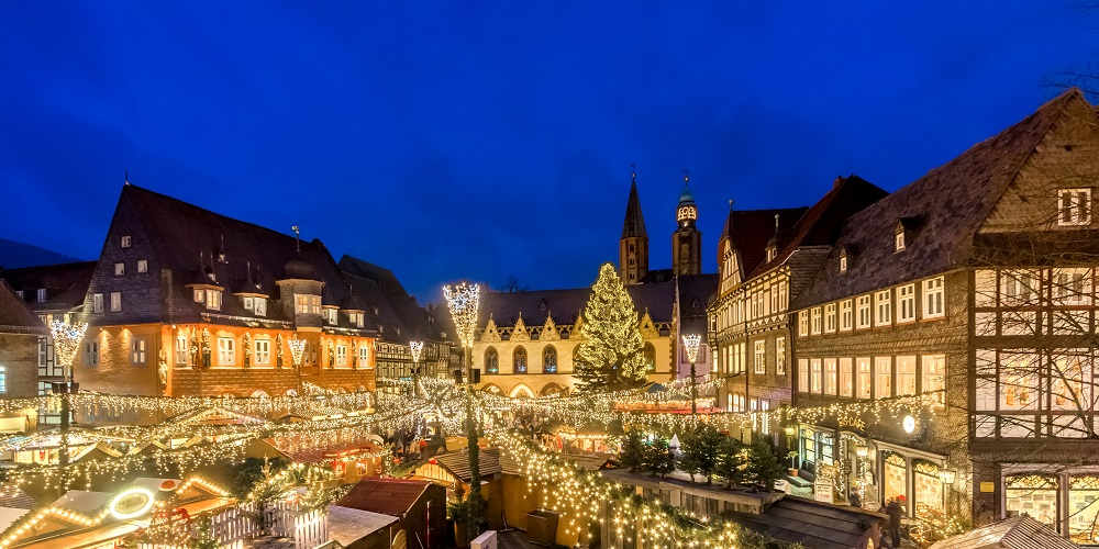 Julemarked i Goslar, 'Niedersachsen', en af de 9 byer. Foto: Marketing GmbH/ Kotyrba