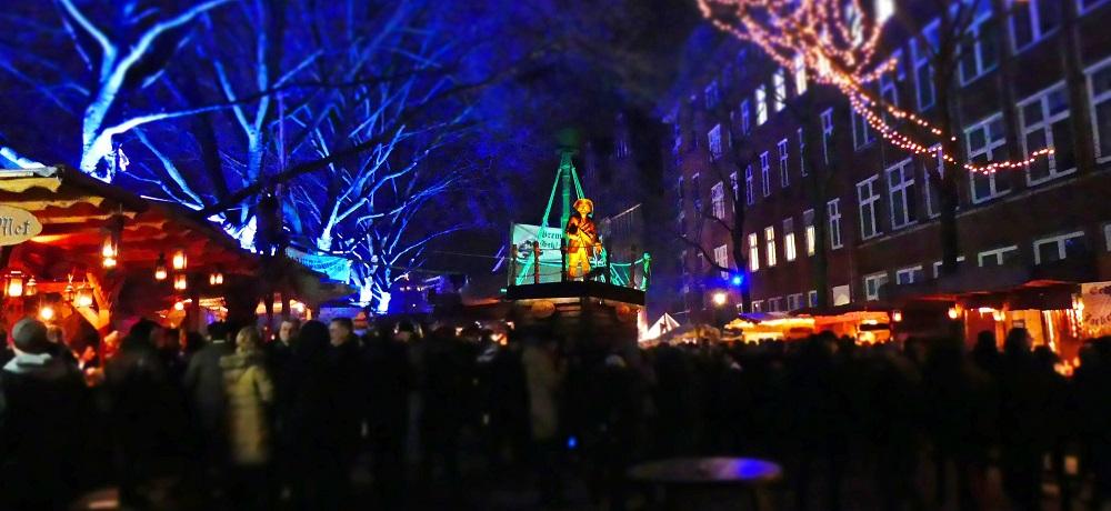 Bremens julemarked med boder osv.