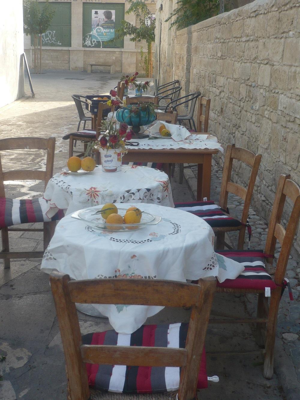 Cafe på Cypern