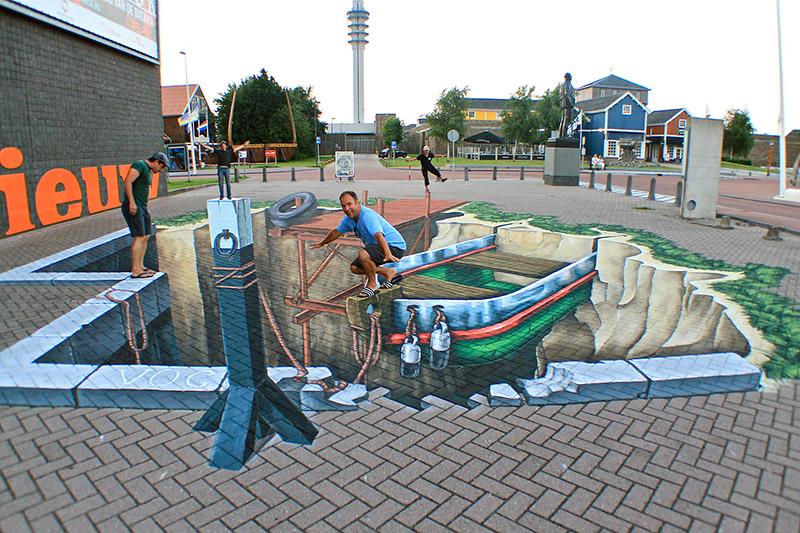 Streetpainting XL Nieuwland Museum - Lelystad
