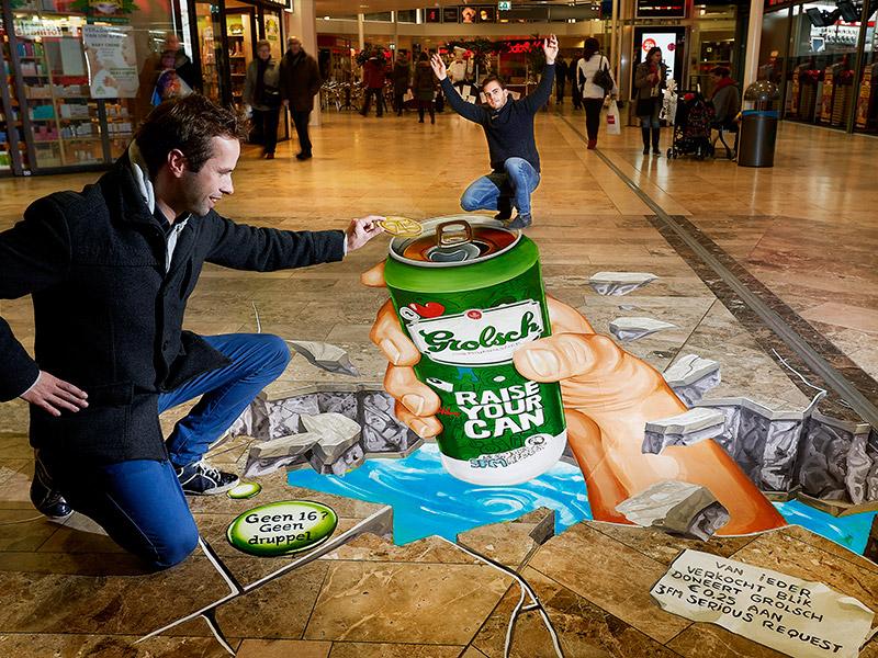 Grolsch Campaign at Hoog Catharijne - Utrecht