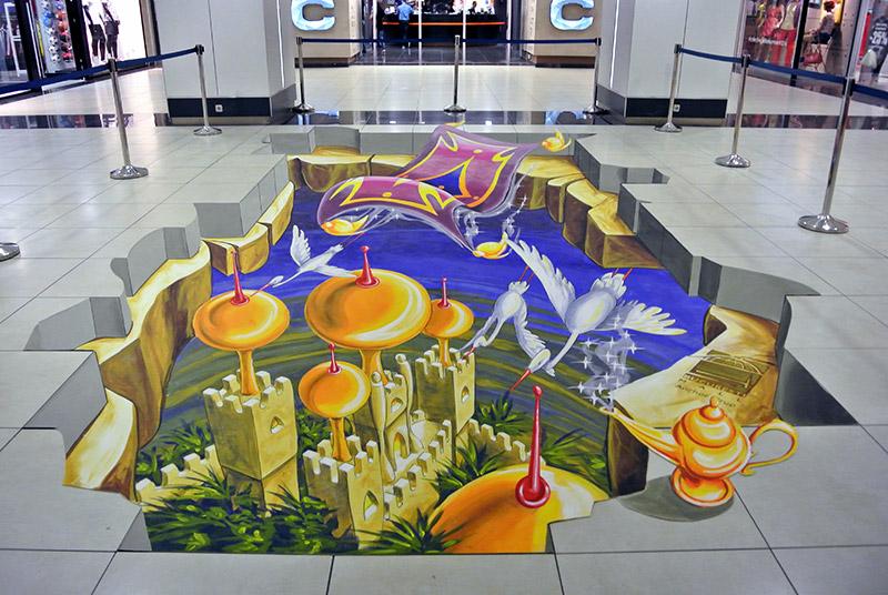 3d-streetart-3d-straattekening-3d-chalk-art-3d-straattekenaars-pavement-art-bucuresti-mall-roemenie-1