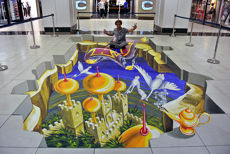 3D Streetpainting at Bucuresti Mall, Romania