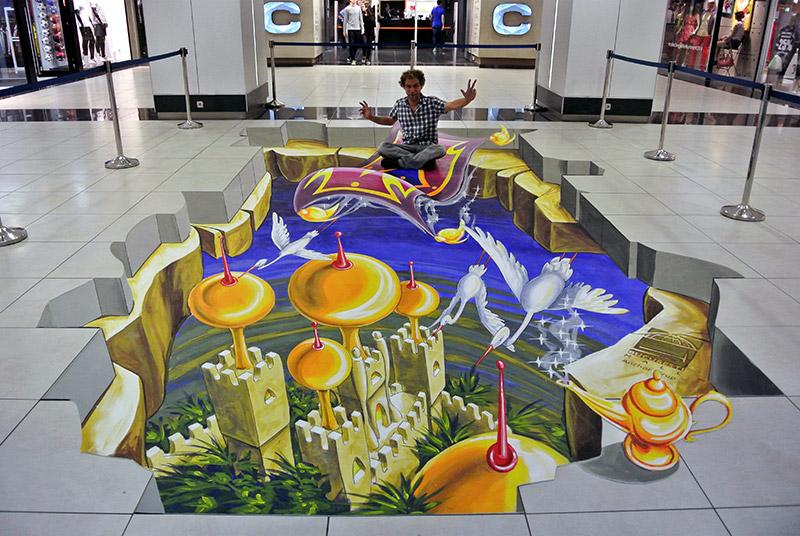 3d-streetart-3d-straattekening-3d-chalk-art-3d-straattekenaars-pavement-art-bucuresti-mall-roemenie-2