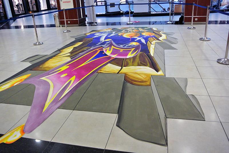 3d-streetart-3d-straattekening-3d-chalk-art-3d-straattekenaars-pavement-art-bucuresti-mall-roemenie-3
