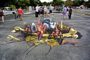 3d-streetpainting-chalk-festival-venice-florida-3d-terror-bird-remko-van-schaik-1