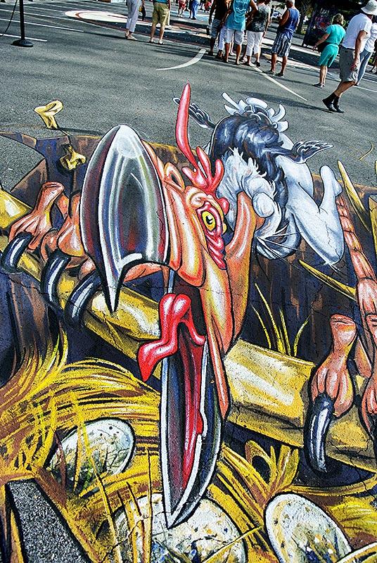 3d-streetpainting-chalk-festival-venice-florida-3d-terror-bird-remko-van-schaik-4