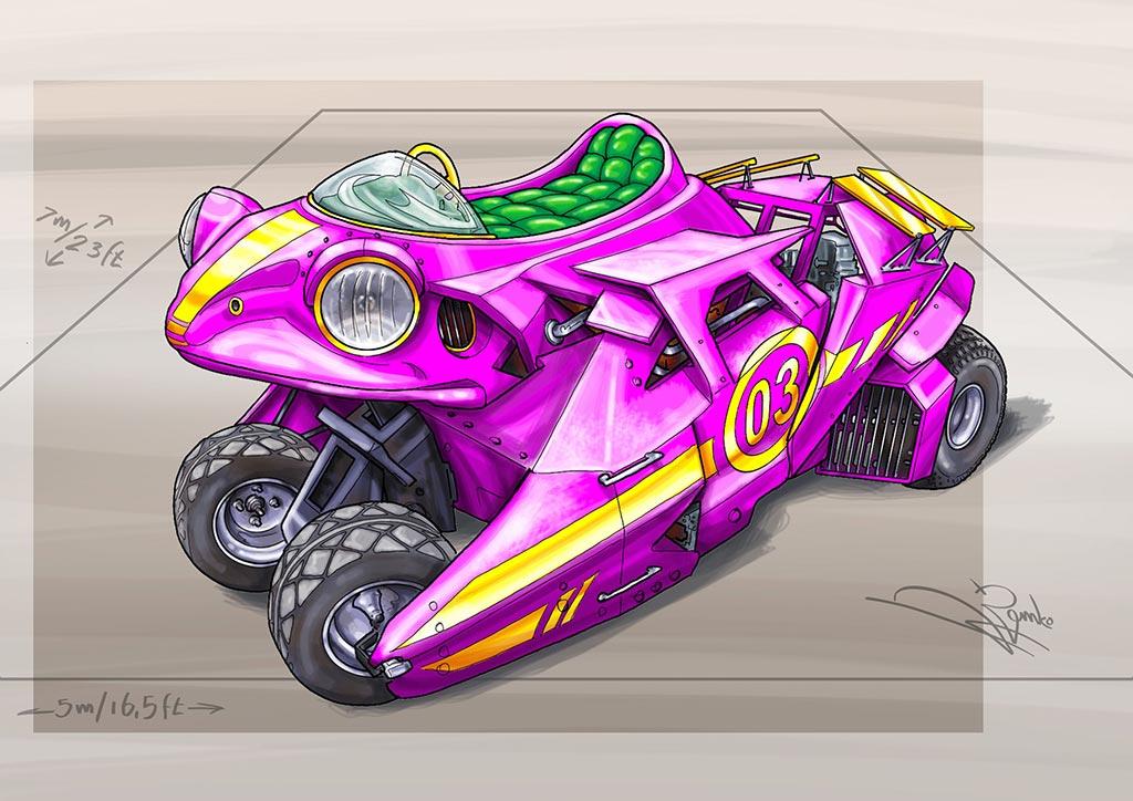 3D Sketch Frog Mobile- Bangkok Thailand