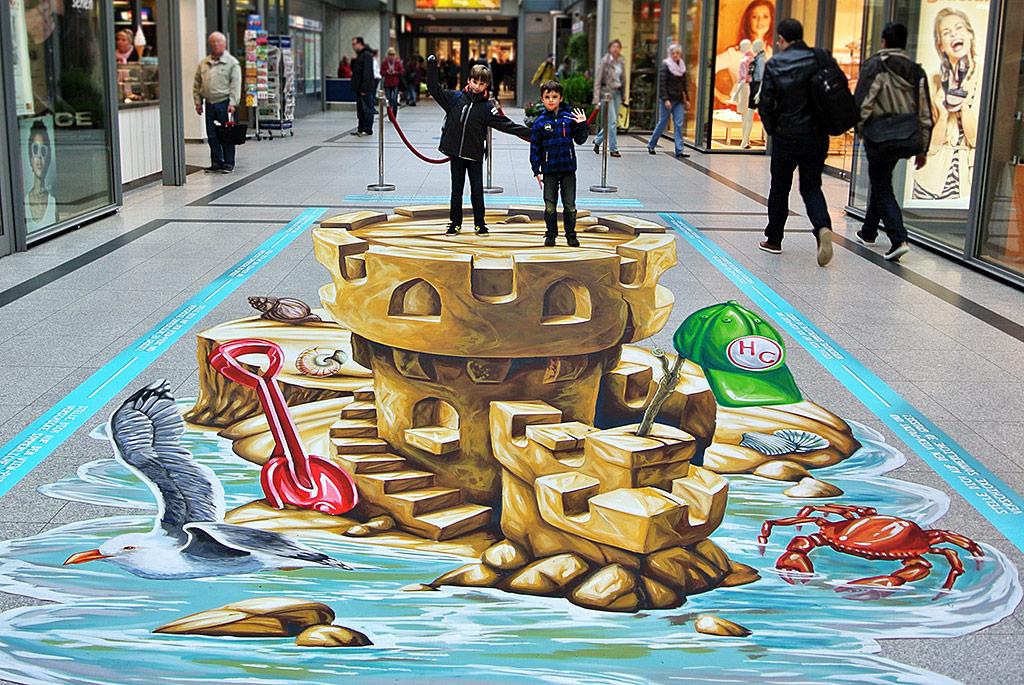 "3D Streetpainting ""Sandcastle"" Norderstedt"
