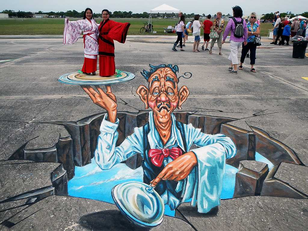 3D Streetpainting at Sarasota Chalk Festival 2015