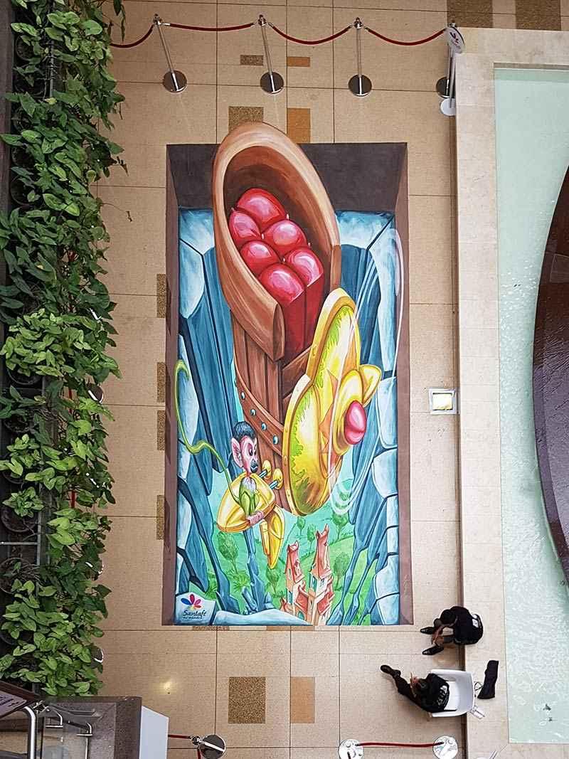 3d-streetpainting-3d-international-artwalk-3d-we-talk-chalk-remko-van-schaik-santafe-shoppingmall-bogota-colombia-2