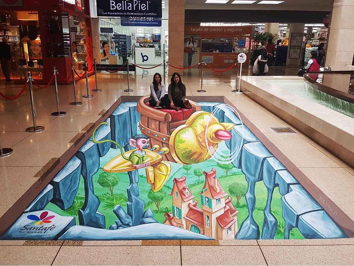3d-streetpainting-3d-international-artwalk-3d-we-talk-chalk-remko-van-schaik-santafe-shoppingmall-bogota-colombia-3