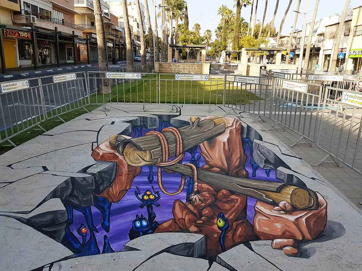 3d-streetpainting-3d-streetart-remko-van-schaik-3d-streetart-festival-afula-israel-1