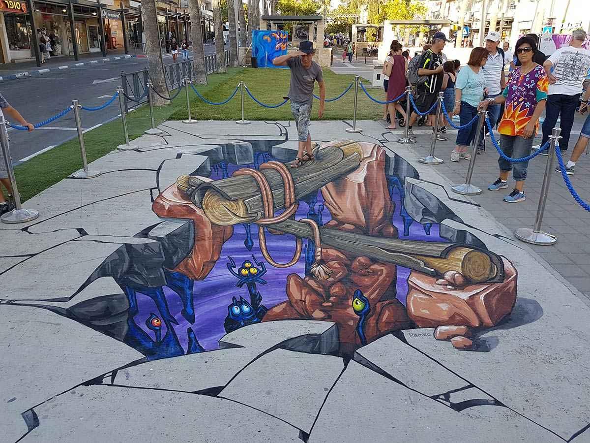 3D Streetpaintings Afula 3D Streetart Festival 1