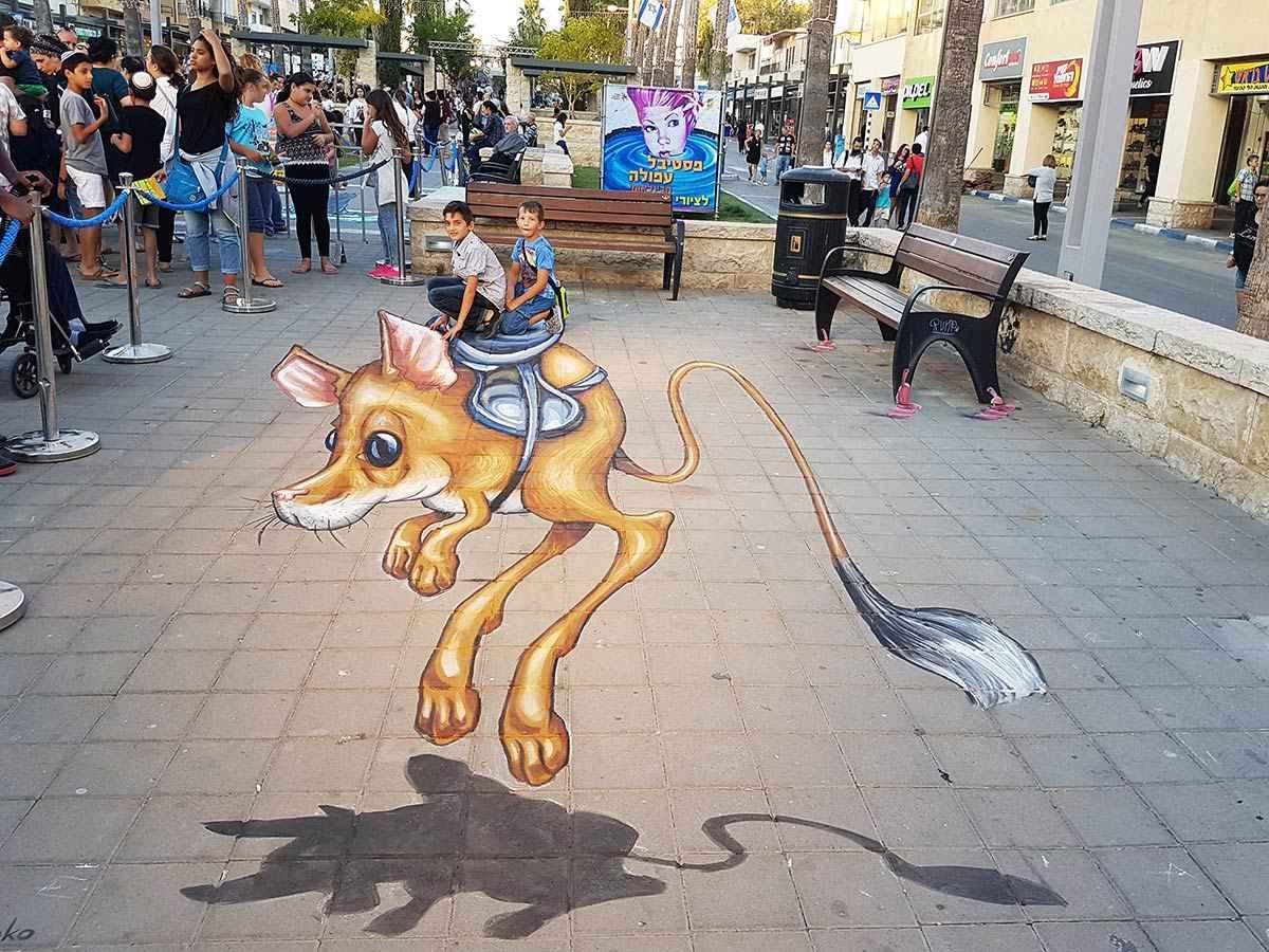 3D Streetpaintings Afula 3D Streetart Festival 2