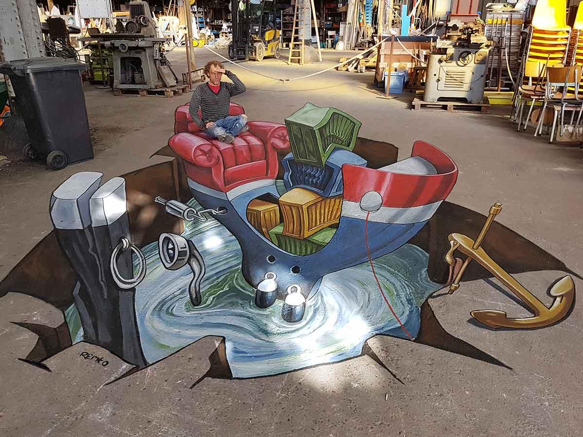 3D Streetpainting at Tizarte Street Art Festival Antwerp