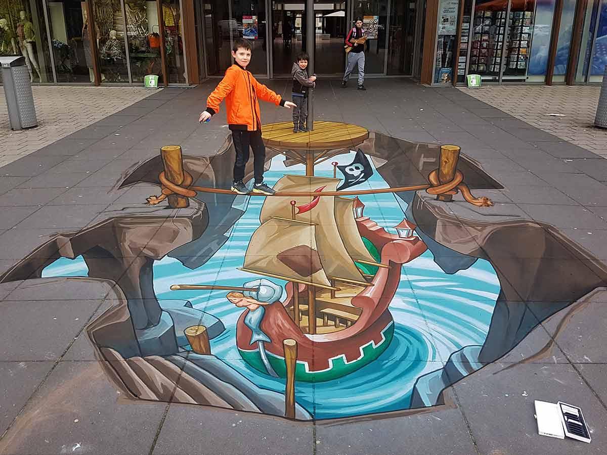 3D Streetpainting Shopping Center Rokkeveen, Zoetermeer
