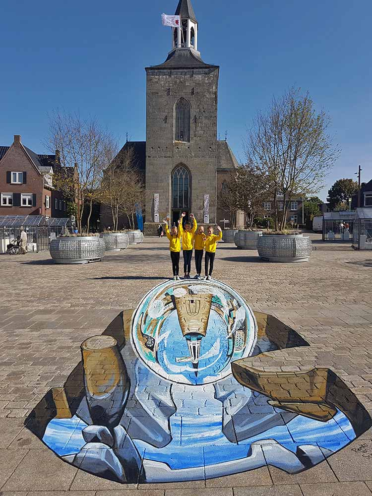 3D Streetpainting at Glasrijk Tubbergen, The Netherlands