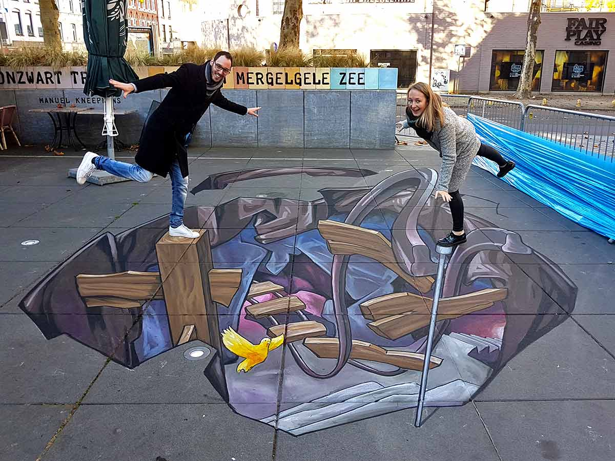3D Streetpainting at Festival Bovengronds in Heerlen, The Netherlands