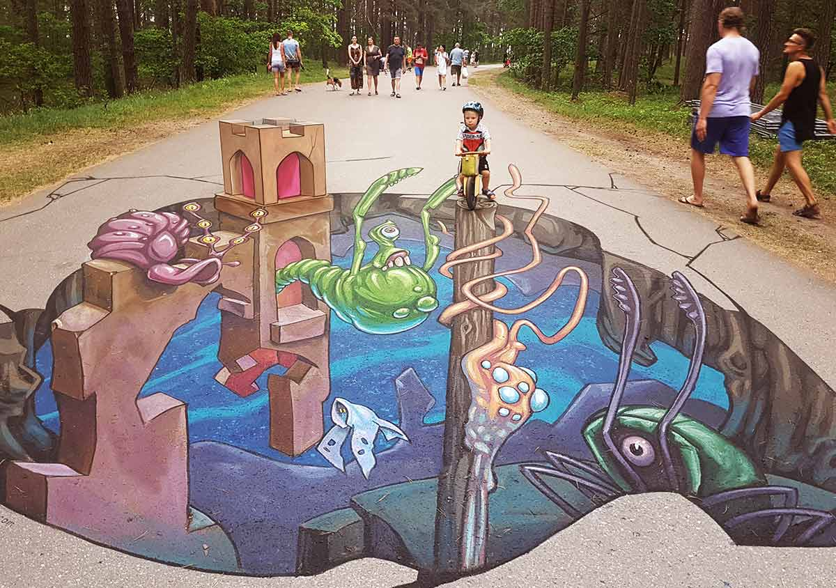 3D Streetpainting at International 3D Art Festival Illusions of Riga