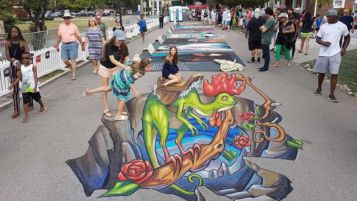 3D Streetpaintings at Sarasota Chalkfestival 2019
