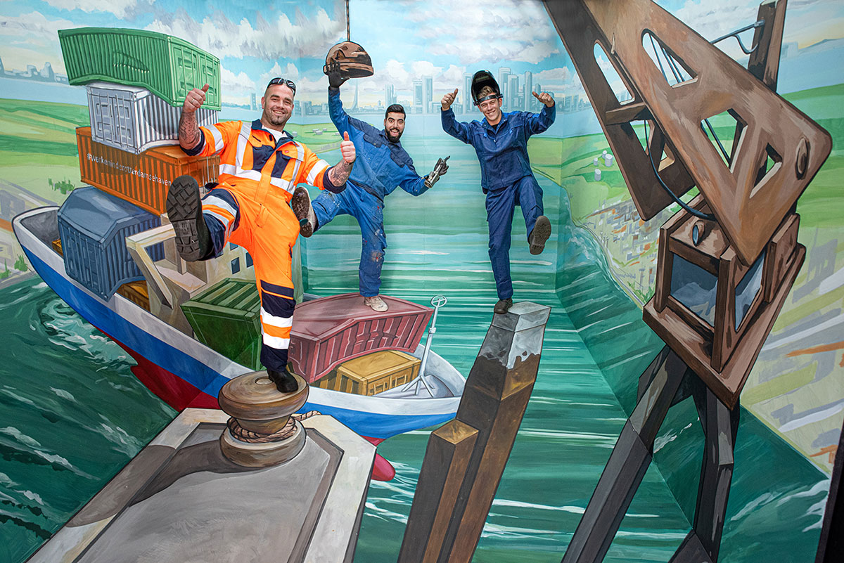3D Streetpainting at Wereldhavendagen Rotterdam 2019