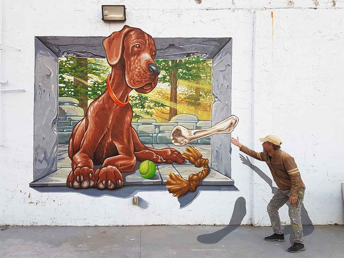 3D Streetpainting at The Icehouse, Sarasota, USA 2