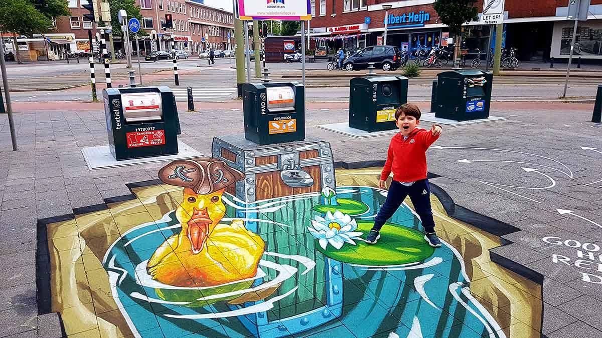 3D Streetpaintings for Laak, Den Haag