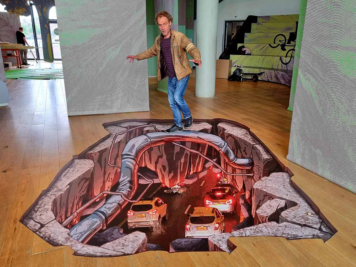 3D Streetpainting at Nemo Science Museum
