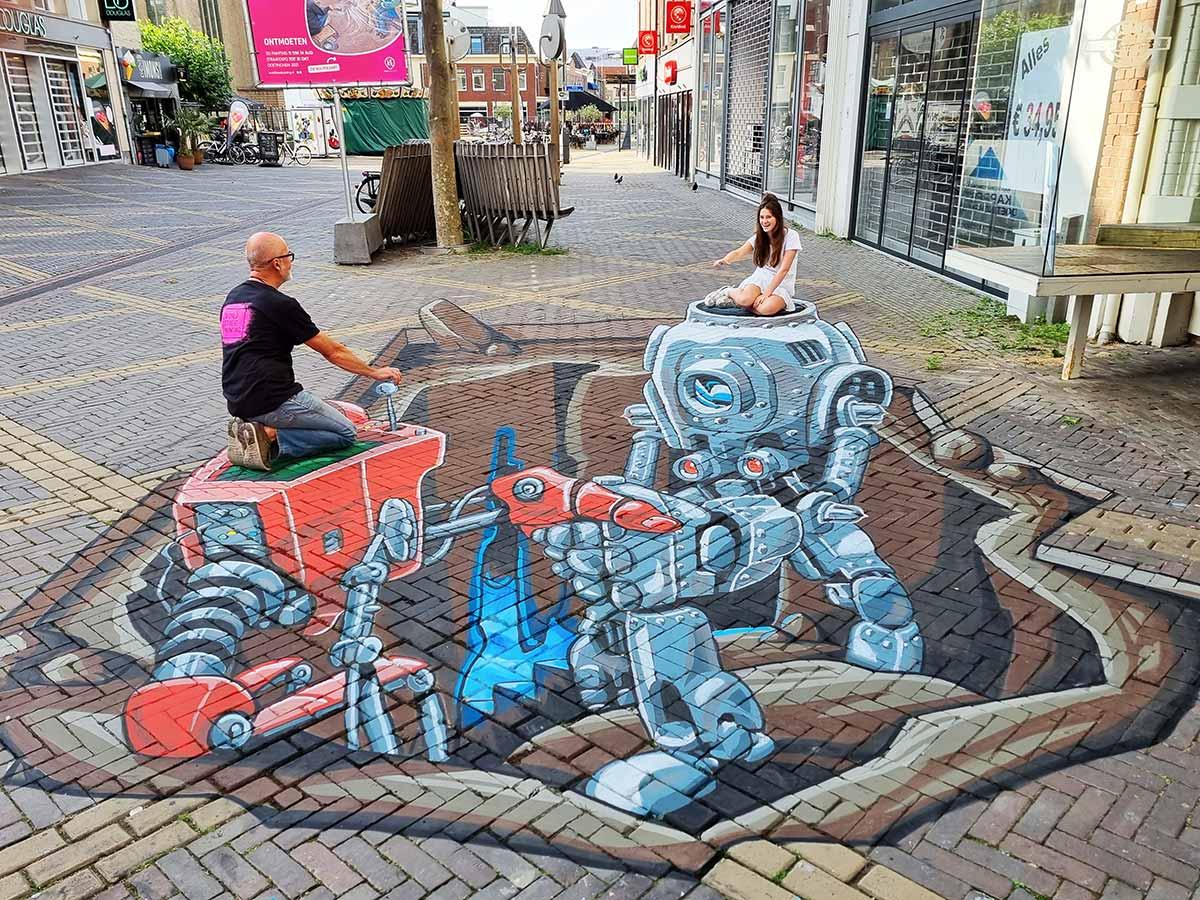 3D Streetpainting Worldstreetpainting Festival Doetinchem