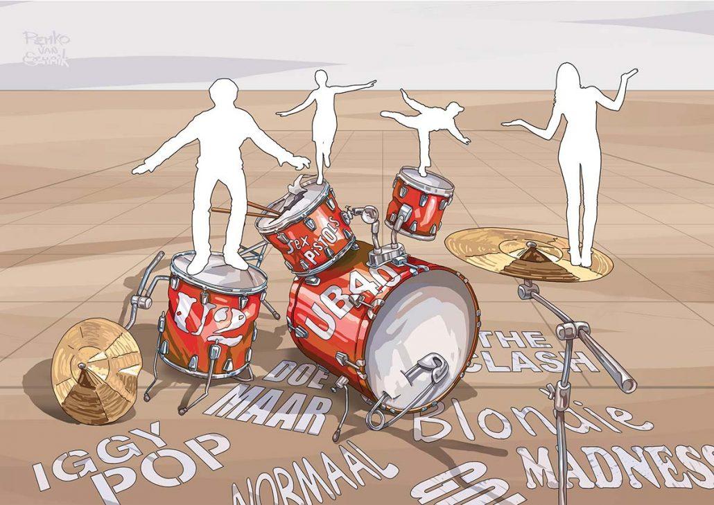 3D Streetpainting sketch '3D Stokvishallen' Worldstreetpainting Festival 2021