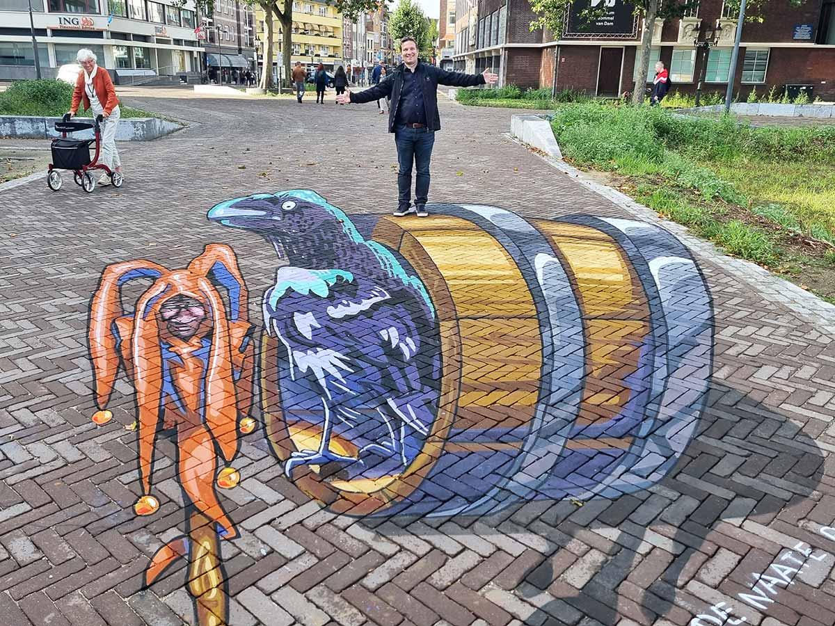 3D Streetpaintings Naate Raaf & Truuj Bolwater, Venlo