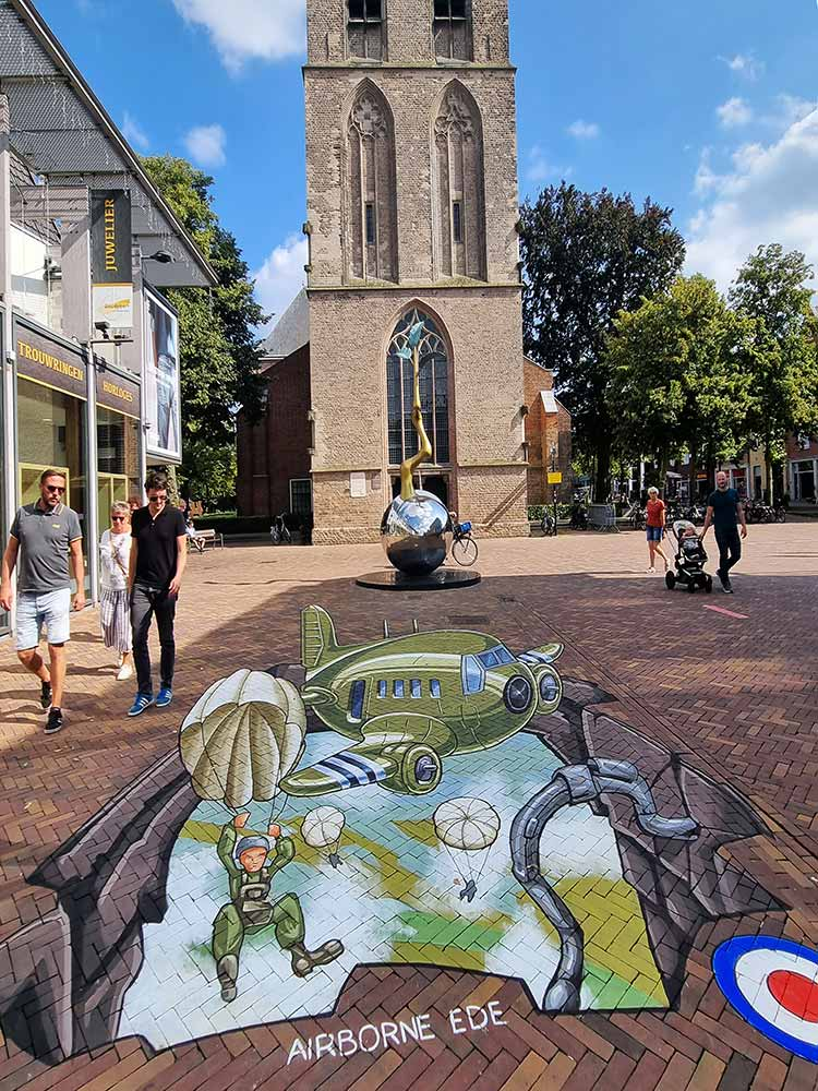 3D Streetpainting Airborn herdenking Ede