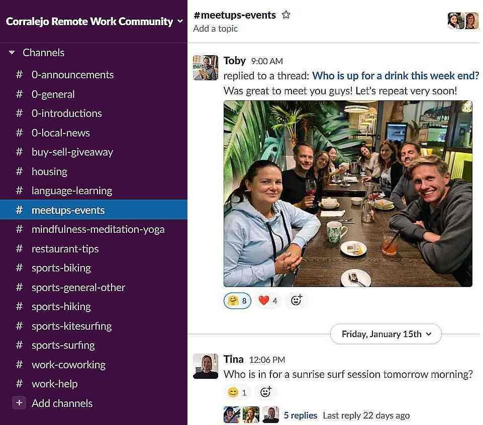 Slack Remote Work Community