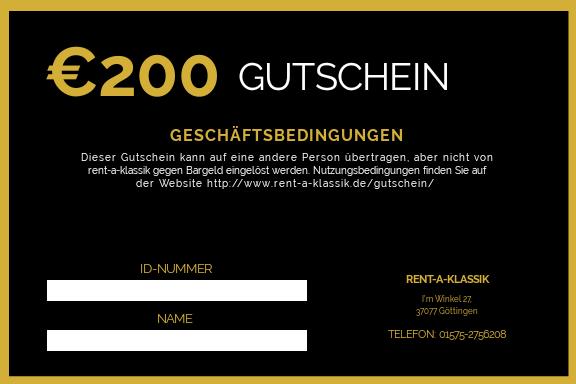 200 Euro Gutschein verfügbar!