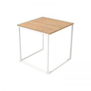 Eettafel Wit Oak 75 x 75 x h76 cm